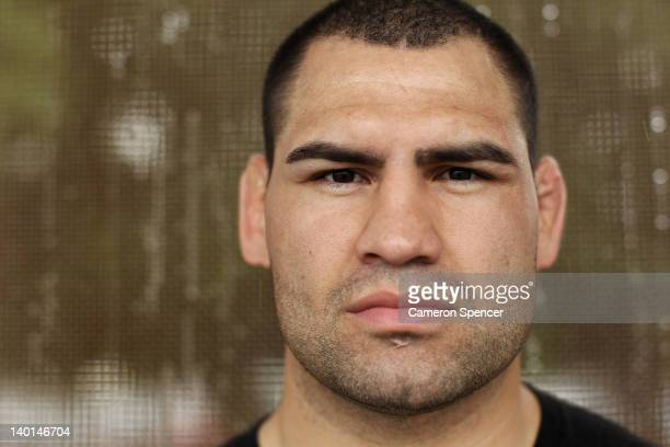 UFC heavyweight champion Cain Velasquez of the United States poses for a portrait at Tramway Oval on February 29 2012 in Sydney Australia