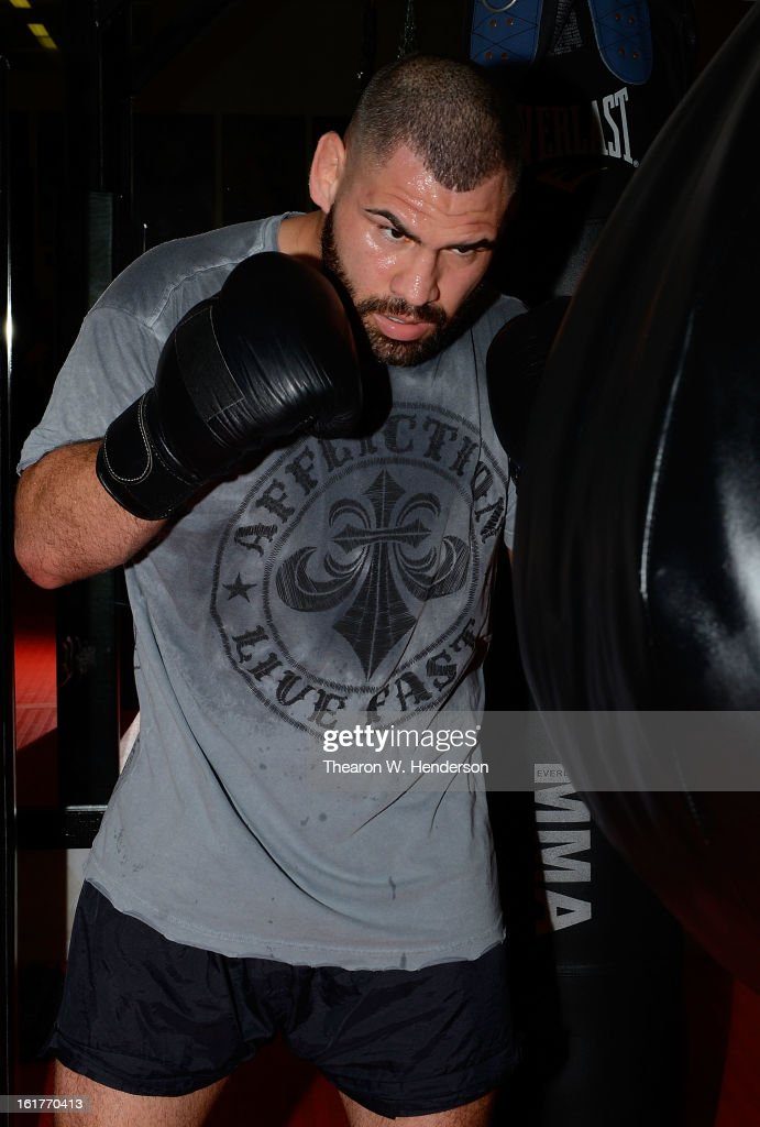 Heavyweight Champion Cain Velasquez works out at AKA San Jose on February 15, 2013 in San Jose, California.