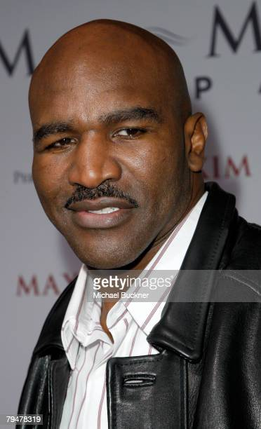 Heavyweight champion Evander Holyfield attends MAXIM Magazine kicks off Super Bowl weekend at Grand Opening of Stone Rose at the Fairmont Scottsdale...