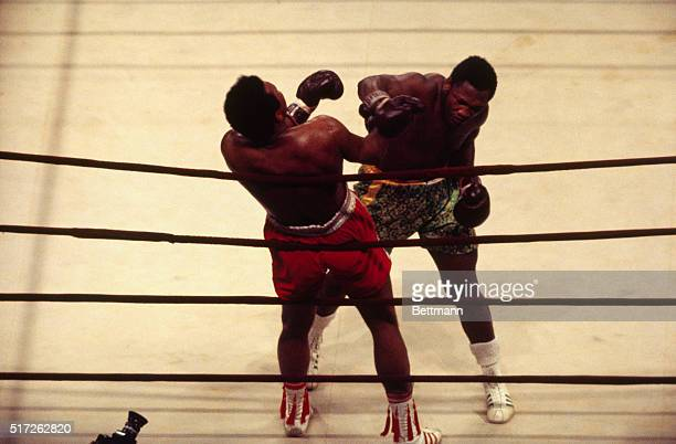Heavyweight champion Joe Frazier punches Muhammed Ali in the 10th round of the title fight at Madison Square Garden. Frazier retained championship...