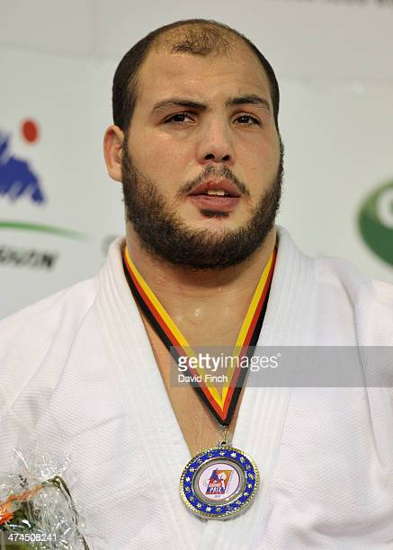 Heavyweight silver medallist Faicel Jaballah of Tunisia during the Dusseldorf Grand Prix on February 23 2014 at the Mitsubishi Electric Halle...