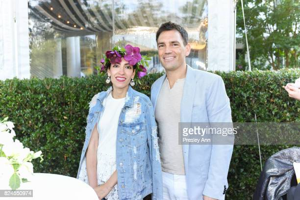 Heba Abedin and Carlos K Wesley attend The Daily Summer x American Express Platinum MidSummer Soiree Hosted by Pamela Schein Murphy of The Select 7...