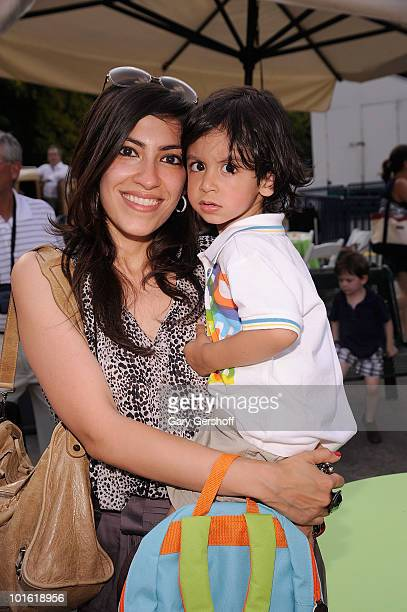 Heba Abedin and Noah Abedin attend the 4th Annual Baby Buggy Bedtime Bash presented by Target at Victorian Gardens at Wollman Rink Central Park on...