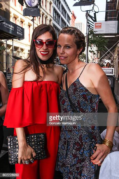 Heba Abedin and Stephanie Minkoff at the Rebecca Minkoff Front Row September 2016 New York Fashion Week The Shows at Rebecca Minkoff on September 10...