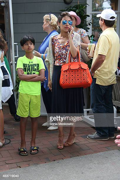 Heba Abedin at Hillary Rodham Clinton book signing of Hard Choices at BookHampton on August 16 2014 in East Hampton New York