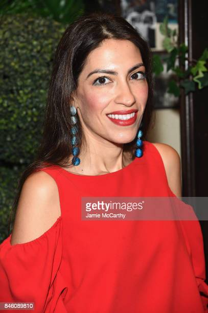 Heba Abedin attends Alice Olivia By Stacey Bendet fashion show during September 2017 New York Fashion Week The Shows at Gallery 2 Skylight Clarkson...