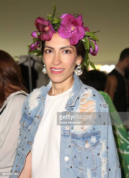 Heba Abedin attends the 20th Annual Super Saturday to benefit the Ovarian Cancer Research Fund Alliance at Nova's Ark Project on July 29 2017 in...