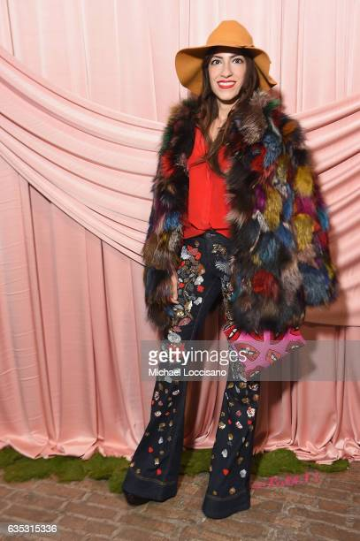 Heba Abedin attends the alice olivia by Stacey Bendet Fall 2017 Presentation at Highline Stages on February 14 2017 in New York City