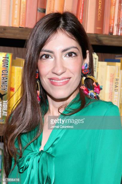 Heba Abedin attends the Alice Olivia by Stacey Bendet presentation during New York Fashion Week The Shows at Industria Studios on February 13 2018 in...