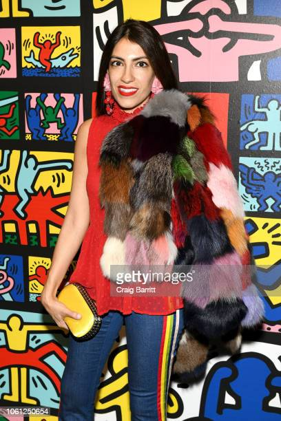Heba Abedin attends the Launch Of Keith Haring x alice olivia at Highline Stages on November 13 2018 in New York City