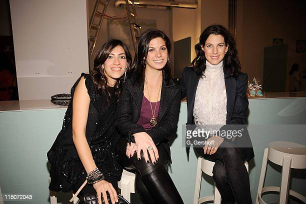 Heba Abedin Jessica Karp and founder and president of Baby Buggy Jessica Seinfeld attend the 2009 Baby Buggy Gear Drive KickOff Party at Baby Buggy...