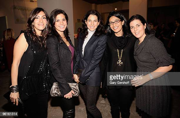 Heba Abedin Jessica Karp founder and president of Baby Buggy Jessica Seinfeld Purnima Puri and Jennifer Cohen attend the 2009 Baby Buggy Gear Drive...