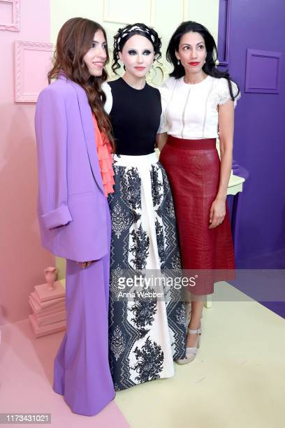 Heba Abedin Stacey Bendet and Huma Abedin attend the alice olivia by Stacey Bendet Spring 2020 Fashion Presentation at Root Studio on September 09...