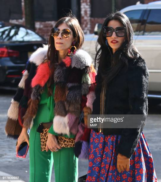 Heba AbedinHuma Abedin are seen in the West Village on February 13 2018 in New York City