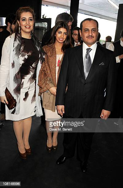 Heba Al Kharafi Fay Al Kharafi and Loay Al Kharafi attend the launch of One Hyde Park The Residences at Mandarin Oriental London on January 19 2011...