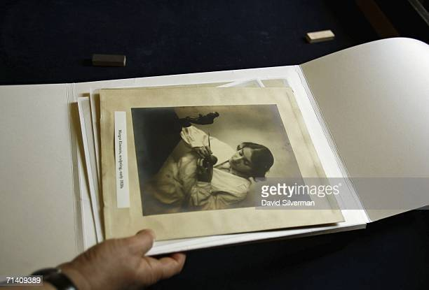 Hebrew University archivist Barbara Wolff puts away newlyrevealed letters and photos from the Albert Einstein archive including this image of...