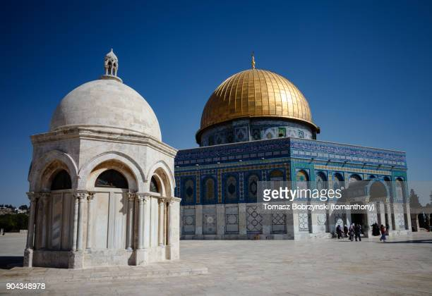 hebron dome and dome of the rock in jerusalem - historical palestine stock pictures, royalty-free photos & images