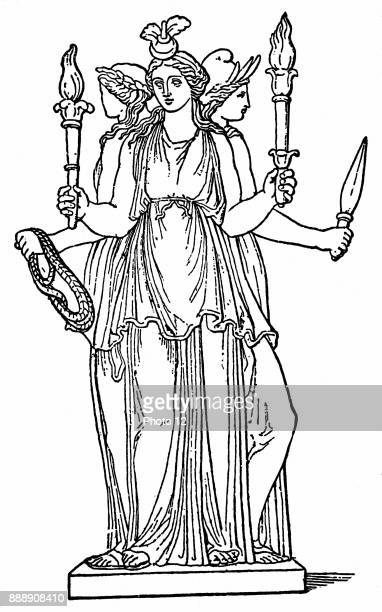 Hecate triplebodied daughter of the Titan Perses and of Asteria As goddess of the lower world she ruled over magic ghosts and witchcraft Greek...