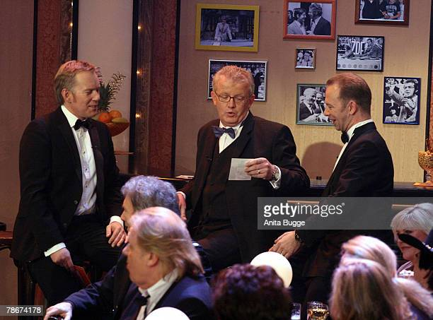 Heck's sons Nils Heckscher and Kim Heckscher attend the birthday gala to celebrate Dieter Thomas Heck's 70th birthday on December 29 2007 in Berlin...
