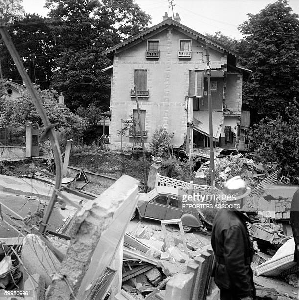 Hectares Chalk Quarry Collapses in the City of Clamart France in June 1961