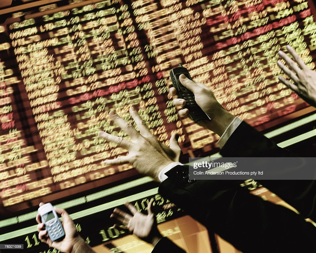 Hectic stock market : Stock Photo
