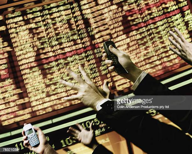 Hectic stock market