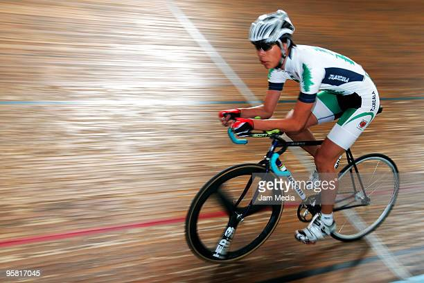 Hector Alberto Youshimatz competes for the national cycling championship Copa Federacion at the National Center for High Performance on January 16...
