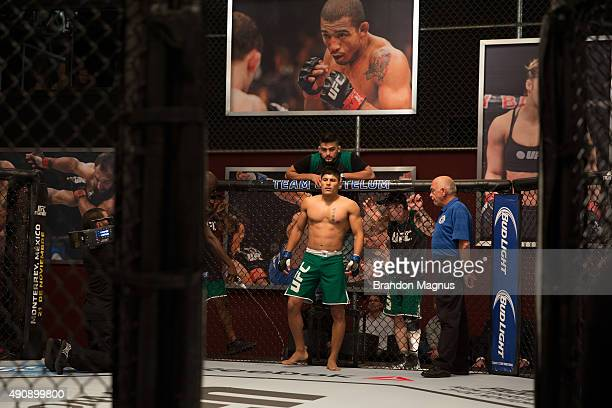 Hector Aldana enters the Octagon before facing Alvaro Herrera during the filming of The Ultimate Fighter Latin America Team Gastelum vs Team Escudero...