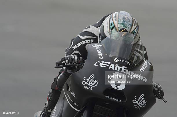 Hector Barbera of Spain and Avintia Racing heads down a straight during the MotoGP Tests in Sepang Day One at Sepang Circuit on February 23 2015 in...
