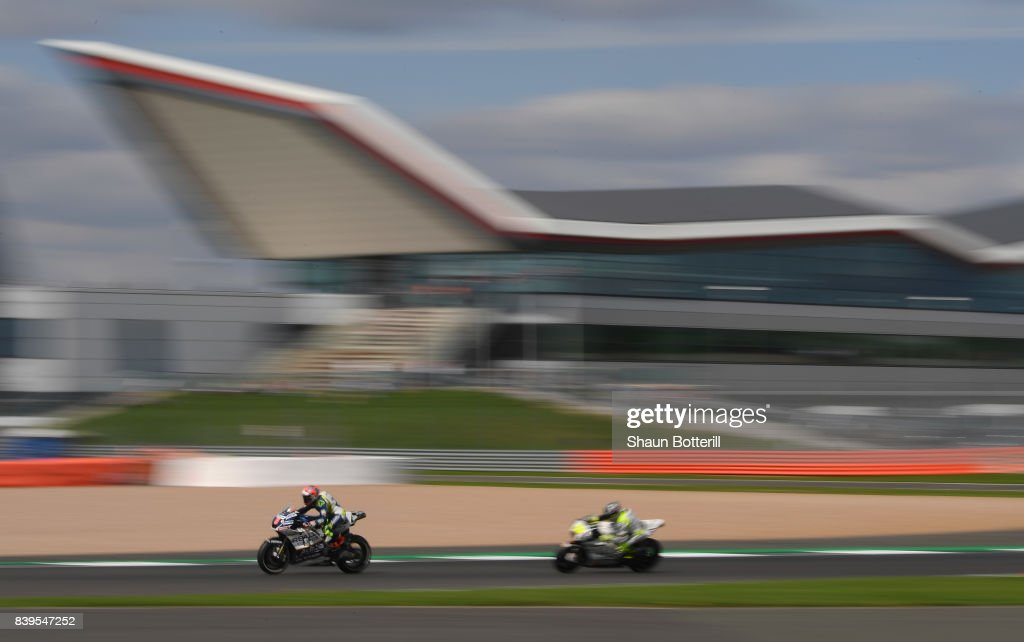 Hector Barbera of Spain and Reale Avintia Racingduring Free Practice 3 at Silverstone Circuit on August 26, 2017 in Northampton, England.