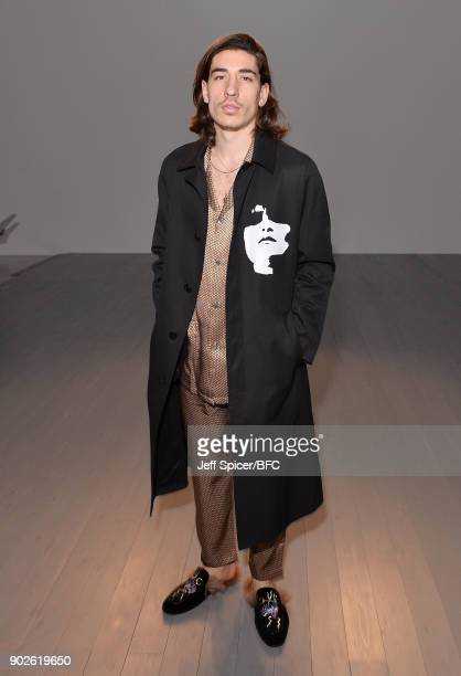 Hector Bellerin attends the DGNAK show during London Fashion Week Men's January 2018 at BFC Show Space on January 8 2018 in London England