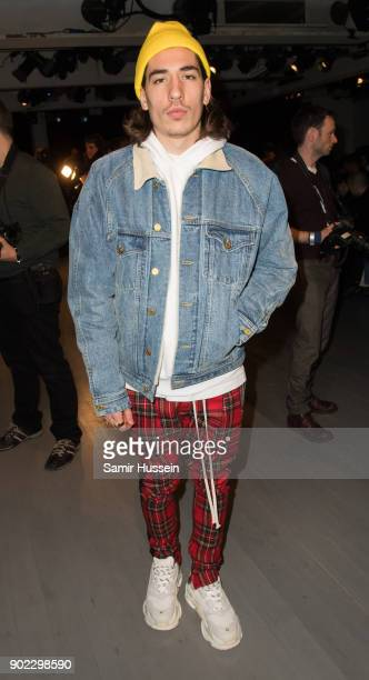 Hector Bellerin during the Alex Mullins show at London Fashion Week Men's January 2018 at on January 7 2018 in London England