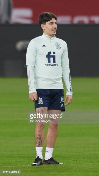Hector Bellerin Moruno of Spain looks on during the Spain training session ahead of the UEFA Nations League match against Germany at Estadio de La...