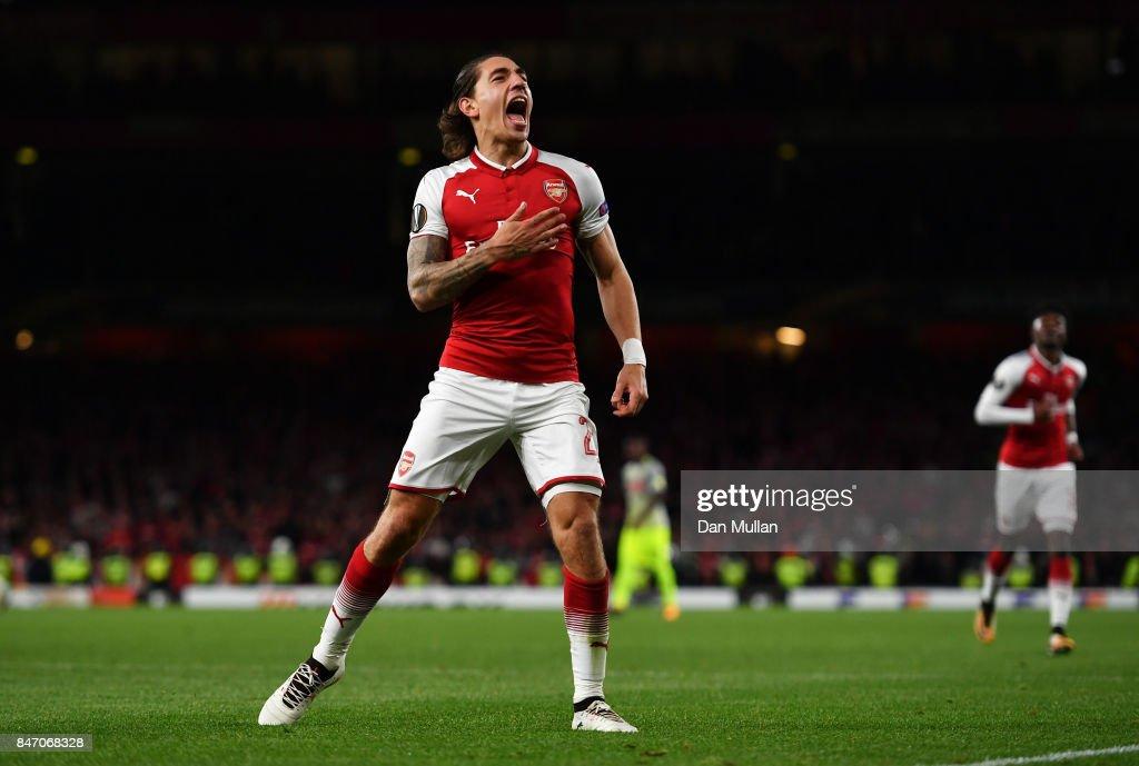 Hector Bellerin Of Arsenal Celebrates Scoring The 3rd