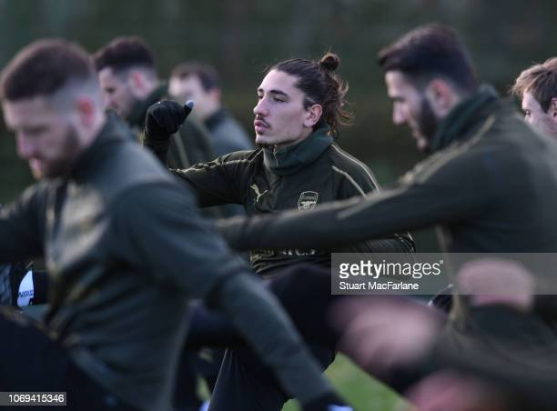 Hector Bellerin of Arsenal during a training session at London Colney on December 7 2018 in St Albans England