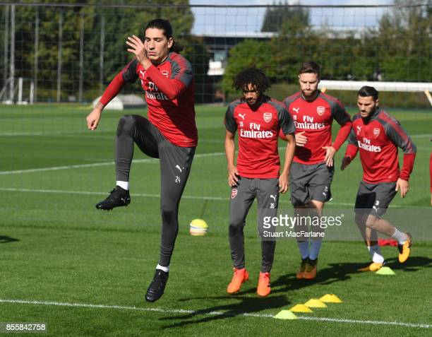 Hector Bellerin of Arsenal during a training session at London Colney on September 30 2017 in St Albans England