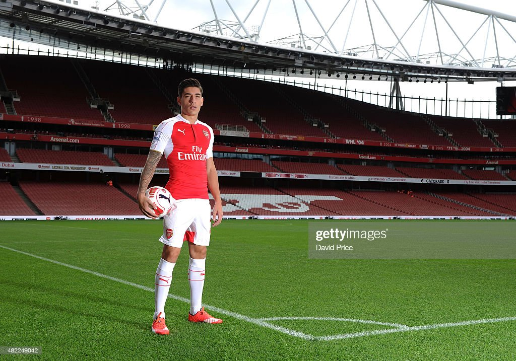 Hector Bellerin of Arsenal during the 1st team photocall at Emirates Stadium on July 28, 2015 in London, England.