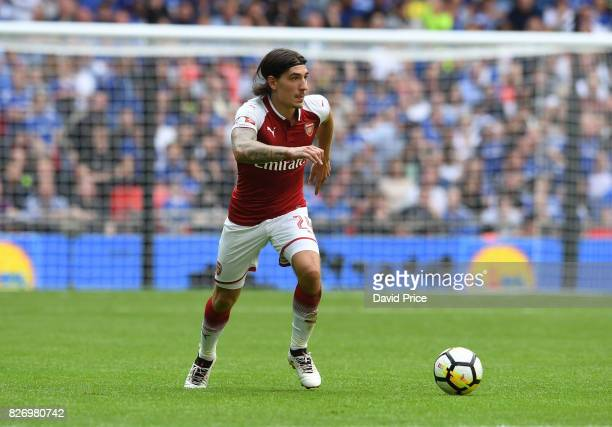 Hector Bellerin of Arsenal during the match between Chelsea and Arsenal at Wembley Stadium on August 6 2017 in London England