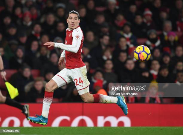Hector Bellerin of Arsenal during the Premier League match between Arsenal and Newcastle United at Emirates Stadium on December 16 2017 in London...