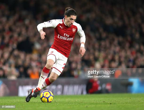 Hector Bellerin of Arsenal during the Premier League match between Arsenal and Everton at Emirates Stadium on February 3 2018 in London England