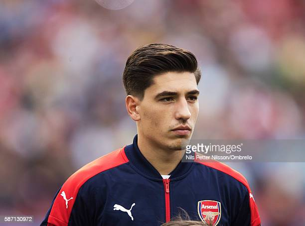 Hector Bellerin of Arsenal during the PreSeason Friendly between Arsenal and Manchester City at Ullevi on August 7 2016 in Gothenburg Sweden
