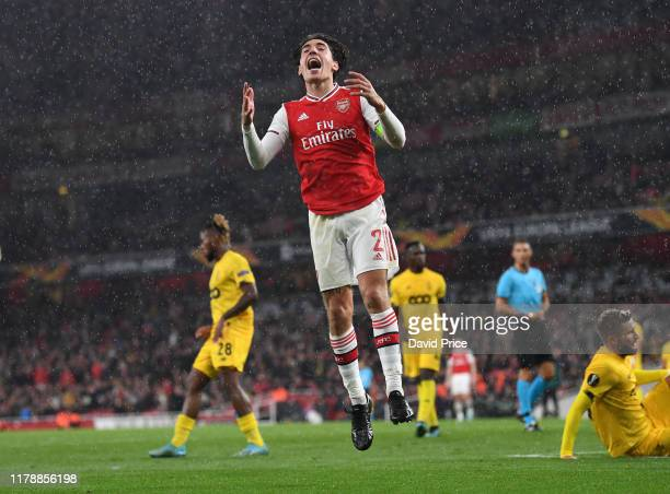 Hector Bellerin of Arsenal during the UEFA Europa League group F match between Arsenal FC and Standard Liege at Emirates Stadium on October 03 2019...