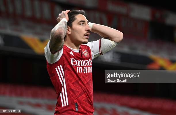 Hector Bellerin of Arsenal during the UEFA Europa League Semi-final Second Leg match between Arsenal and Villareal CF at Emirates Stadium on May 06,...