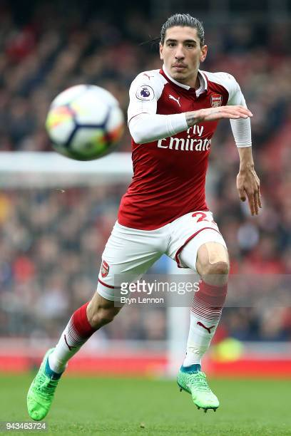 Hector Bellerin of Arsenal in action during the Premier League match between Arsenal and Southampton at Emirates Stadium on April 8 2018 in London...