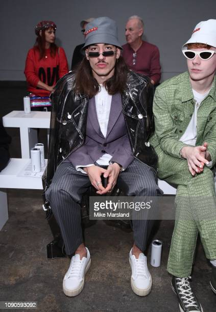 Hector Bellerin on the front row during London Fashion Week Mens January 2019 on January 06 2019 in London England