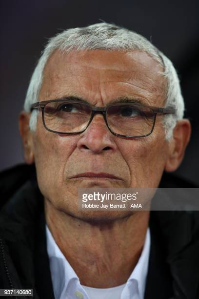 Hector Cuper head coach / manager of Egypt during the International Friendly match between Egypt and Portugal at Stadion Letzigrund on March 23, 2018...