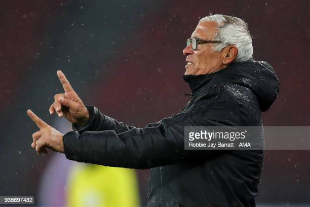 Hector Cuper head coach / manager of Egypt during the International Friendly match between Egypt and Greece at Stadion Letzigrund at Letzigrund on...