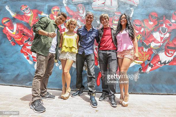 Hector David Jr Brittany Pirtle Najee DeTiege Alex Heartman and Erika Fong of Saban's Power Rangers POWER up San Diego Comic Con at San Diego...