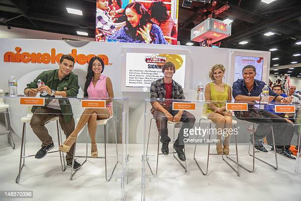 Hector David Jr Erika Fong Alex Heartman Brittany Pirtle and Najee DeTiege of Saban's Power Rangers POWER up San Diego Comic Con at San Diego...