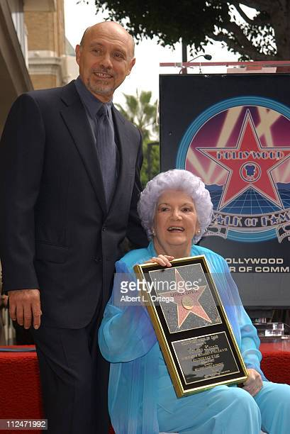 Hector Elizondo and Carmen Zapata during Carmen Zapata Honored with a Star on the Hollywood Walk of Fame for Her Achievements in Live Theatre at...